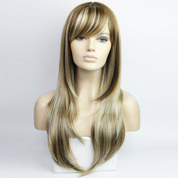Western Style Side Bang Layered Long Wavy Mixed Color Synthetic Hair Women's Capless Wig - COLORMIX COLORMIX