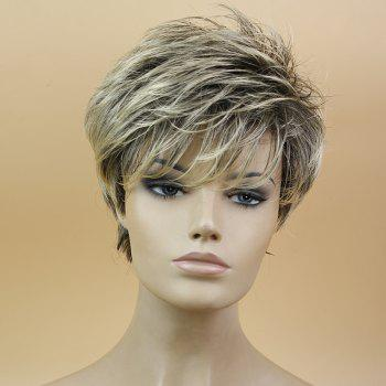 Boutique Laconic Mixed Color Curly Short Side Bang Nobby Women's Capless Wig - T4/613 T /