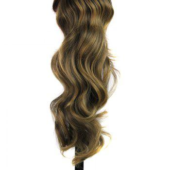 Elegant Long Wave Heat Resistant Synthetic Trendy Colormix Capless Women's Ponytail - COLORMIX