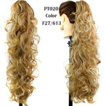 Graceful Heat Resistant Synthetic StylishLong Curly Capless Ponytail For Women