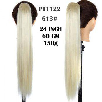 Vogue Long Capless Heat Resistant Synthetic Silky Straight Elegant Ponytail For Women