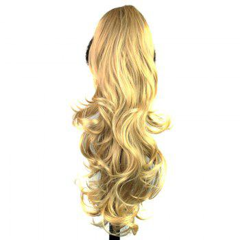 Sophisticated Synthetic Long Wavy Stylish Capless Graceful Blonde Women's Ponytail