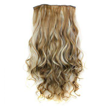 Trendy Heat Resistant Synthetic 23 Inch Clip-In Long Curly Women's Hair Extension - 6H613  H