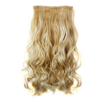 Trendy Heat Resistant Synthetic 23 Inch Clip-In Long Curly Women's Hair Extension - 27H613  H