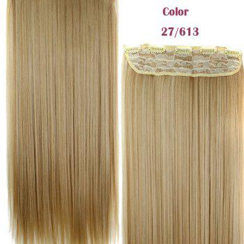 Stylish Heat Resistant Synthetic 23 Inch Clip-In Long Straight Women's Hair Extension - 27/613#  /