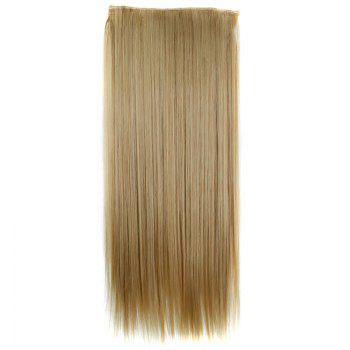 Stylish Heat Resistant Synthetic 23 Inch Clip-In Long Straight Women's Hair Extension -   /