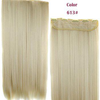 Stylish Heat Resistant Synthetic 23 Inch Clip-In Long Straight Women's Hair Extension - 613#