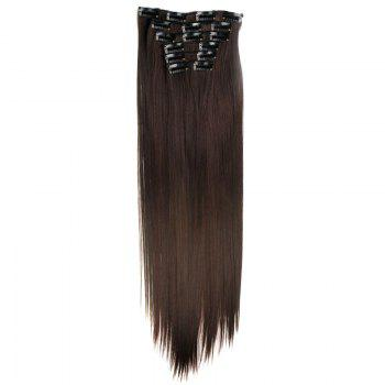 Stylish Heat Resistant Synthetic Clip-In Long Straight Women's Hair Extension Suit -   /