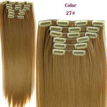 Stylish Heat Resistant Synthetic Clip-In Long Straight Women's Hair Extension Suit