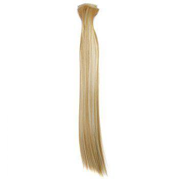 Stylish Heat Resistant Synthetic Clip-In Long Straight Women's Hair Extension Suit -   H