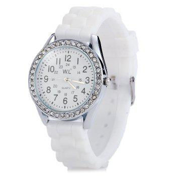 WL Candy Colors Ladies Quartz Watch with Round Dial Rubber Band