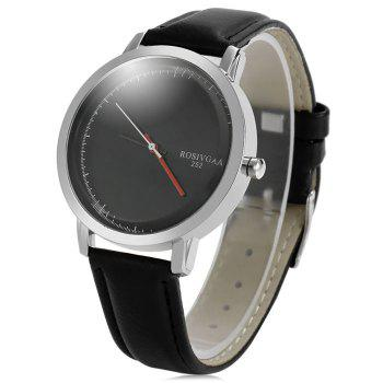 Rosivga 252 Business Quartz Watch with Leather Band for Men