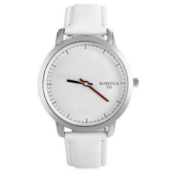 Rosivga 252 Business Quartz Watch with Leather Band for Men - BLACK