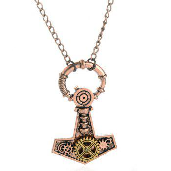 Anchor Gear Pendant Necklace - COPPER COLOR COPPER COLOR