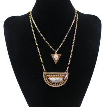Classic Bohemia Turquoise Geometric Necklace For Women