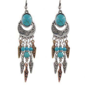 Pair of Faux Turquoise Arrow Earrings