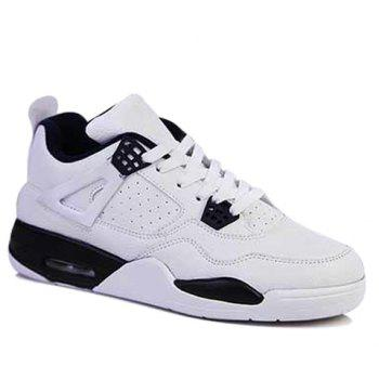 Fashion Round Toe and Color Block Design Athletic Shoes For Men