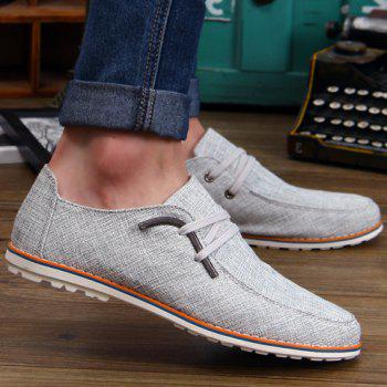 Preppy Round Toe and Metallic Design Casual Shoes For Men - 39 39