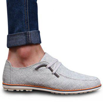 Preppy Round Toe and Metallic Design Casual Shoes For Men - GRAY 39