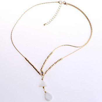 Fashionable Bohemian Style Triangle and Waterdrop Shape Hairband For Women - WHITE AND GOLDEN WHITE/GOLDEN