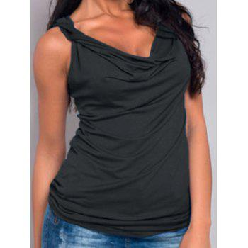 Stylish Sleeveless Solid Color Low Cut Women's Tank Top