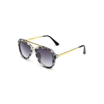 Chic Alloy Dappled Frame Sunglasses For Women