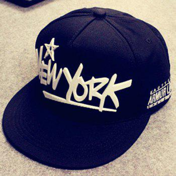 Stylish Hollow Out Star and Letters Shape Embellished Men's Baseball Cap