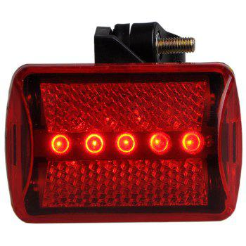 Lampe de poche lumineuse à vélo 5 LED Bike Warning Tail Light -