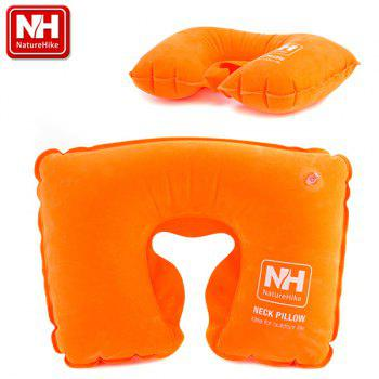 NautreHike Air Inflation U Style Neck Pillow for Outdoor Camping Travelling Home Office