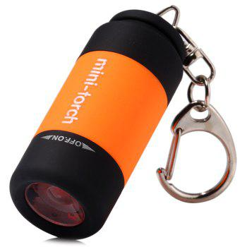 USB Rechargeable 25LM LED Flashlight Lamp Keychain Pocket Portable Torch for Outdoor Camping Hiking etc.