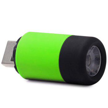 USB Rechargeable 25LM LED Flashlight Lamp Keychain Pocket Portable Torch for Outdoor Camping Hiking etc. -  GREEN