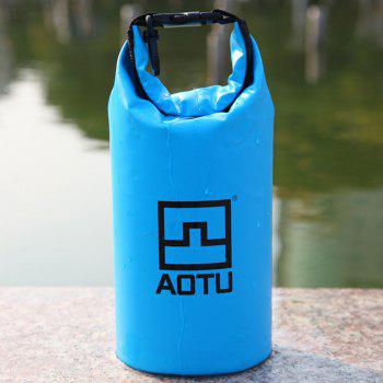 Aotu AT6623 1.5L Capacity Mobile Phone Digital Camera Waterproof Bag for Outdoor Drifting / Swimming - LAKE BLUE LAKE BLUE