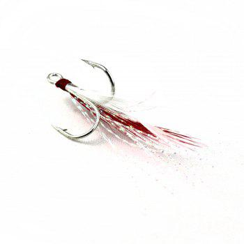 No. 4 Feather Hook with Three Fishing Barb - AS THE PICTURE AS THE PICTURE