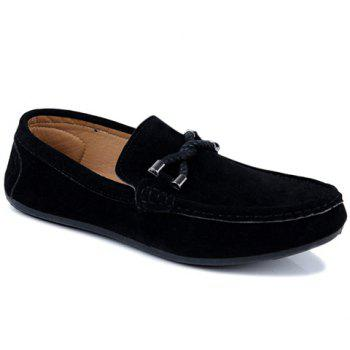Concise Style Suede and Flat Design Loafers For Men