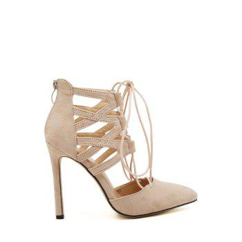 Party Pointed Toed and Lace-Up Design Women's Pumps