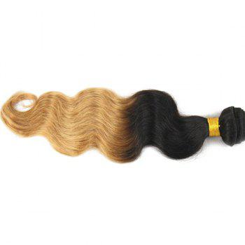 Stylish Brazilian Virgin Hair Body Wavy Black Golden Omber Women's Human Hair Weft Extension - OMBRE  OMBRE
