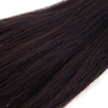Silky Stylish 6A Natural Black Brazilian Straight Virgin Hair 10 Inch Women's Human Hair Weft -