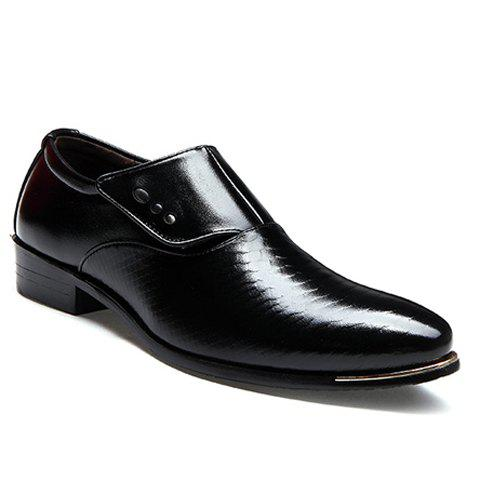 Career Pointed Toe and Magic Sticker Design Formal Shoes For Men - BLACK 43