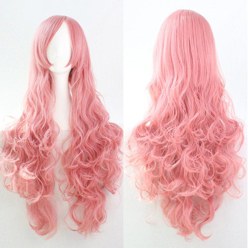 80CM Top Quality Side Bang Layered Shaggy Long Curly Heat Resistant Charming Cosplay Wig fashion charming ombre side bang long straight heat resistant synthetic cosplay wig for women