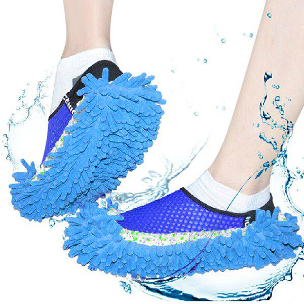 цены Practical Chenille Mop Slippers Dust Floor Cleaning Mopping Foot Shoes Home Pair Cleaner