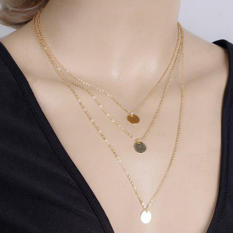 Stylish Chic Layered Round Pendant Necklace For Women