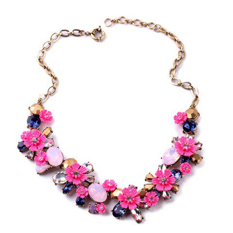 Fashion Rhinestone Flower Necklace For Women