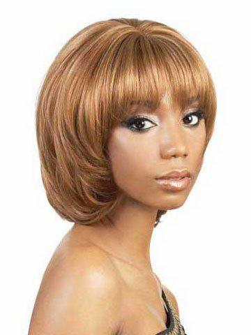 Mushroom Hairstyle find this pin and more on hairstyles and care by kerryannpeart14 another mushroom cut Fashion Mushroom Hairstyle Full Bang Fluffy Short Wavy Synthetic Womens Blonde Wig Colormix