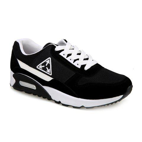 Stylish Color Block and Splicing Design Athletic Shoes For Men - BLACK 44