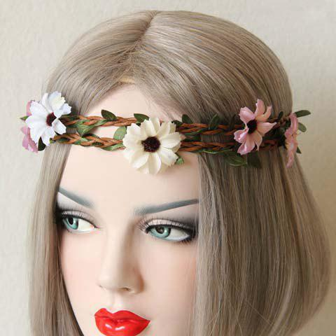 Stunning Floral Shape Double-Layered Hairband For Women - COLORMIX