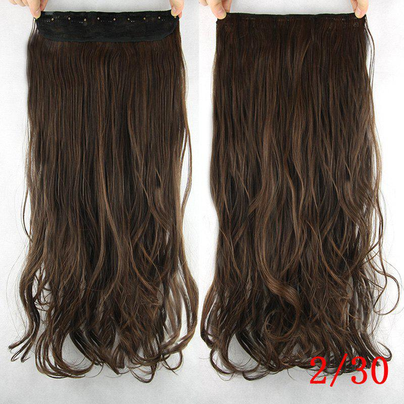 Handsome Stunning Wavy Heat Resistant Synthetic Hair Weft For Women - /