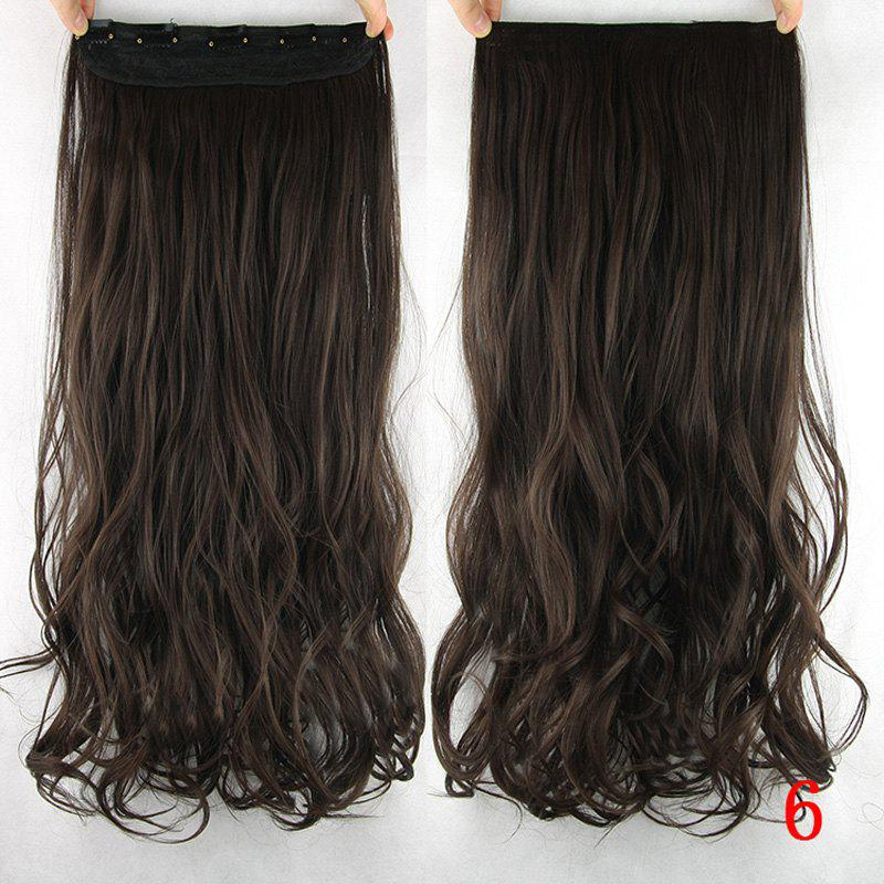 Handsome Stunning Wavy Heat Resistant Synthetic Hair Weft For Women