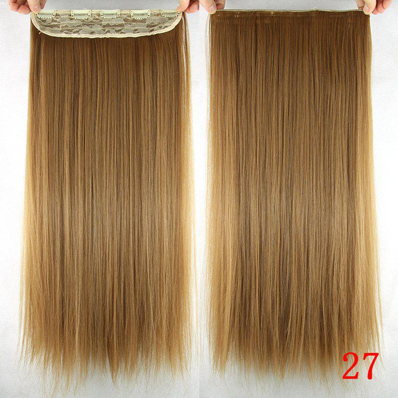 Trendy Silky Straight Heat Resistant Synthetic Hair Weft For Women