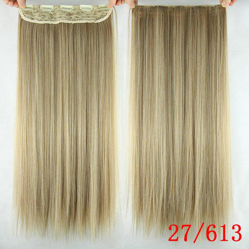 Trendy Silky Straight Heat Resistant Synthetic Hair Weft For Women - 27/613