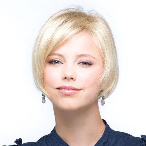 2018 Pretty Charming Short Hairstyle Side Bang Soft Natural Straight